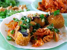 For the non-meat eaters out there - Asian Beer Battered Tofu Tacos with Homemade Kimchi #Craftbeer