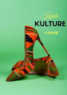 Kente shoes - orange & green African shoes, African print shoes, ankara shoes, african print heels, african ankara women's cute, kente. LIMITED EDITION KEIRA SHOES. (affiliate)