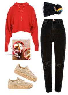 """Keep it warm"" by h-carter on Polyvore featuring moda, TIBI, Eugenia Kim, Puma, Amara i Rebecca Minkoff"