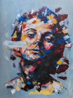 28 Original Artworks curated by Rebecca Wilson, Through the Looking Glass: New Portraits. Original Art Collection created on Photography Collage, Paint Photography, Davide Cambria, Acrylic Painting Inspiration, Portraits, Portrait Paintings, Ap Studio Art, Face Art, Art Faces