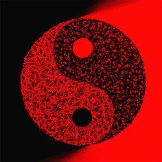 Yin Yang  Red and Black  Original Modern Painting by MatriXArtbyDV, $59.00
