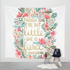 Buy Little & Fierce Wall Tapestry by Cat Coquillette. Worldwide shipping available at Society6.com. Just one of millions of high quality products available.