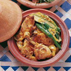 Huhn-Zucchini-Tajine