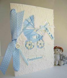 Iris Folded Baby Boy Congratulations Card by warmtouchcreations on etsy.