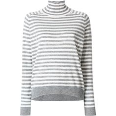 Steffen Schraut striped knitted top (535 BRL) ❤ liked on Polyvore featuring tops, grey, long sleeve tops, striped long sleeve top, ribbed top, striped top and steffen schraut