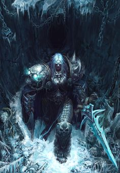 Lich King- Arthas, young hun byun on ArtStation at https://www.artstation.com/artwork/rzobe