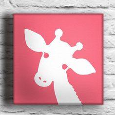 Custom Baby Giraffe Silhouette Painting on Canvas by waddlingduck: Baby Eric, Giraffes Silhouette,