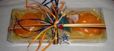 Handmade Gift Set for Women: Three small Scented Luxury Soaps (two in Orange Color and Mellon perfume and one in Blue Color and Ocean Blue Orange, Orange Color, Handmade Soaps, Handmade Jewelry, Cosmetics Laboratory, Cut Out Shapes, Gift Sets For Women, Luxury Soap, Jewelry Making Tools