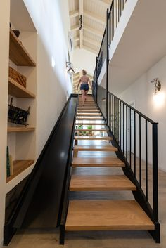 slide or stairs? Home Stairs Design, Home Room Design, Dream Home Design, My Dream Home, Home Interior Design, Arquitectura Wallpaper, Rustic Home Design, House Stairs, House Layouts
