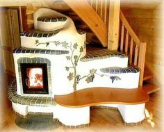 Cob and tile furnace.
