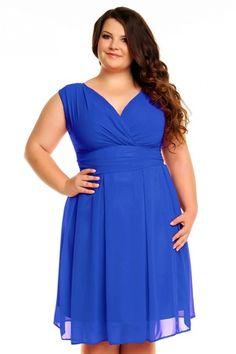 Sukienka z szyfonu KM117PS