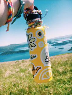 VSCO - lilyyholmes Hydro Flask Water Bottle, Happy Colors, Stay Hydrated, Flasks, Vsco, Cute Water Bottles, Cute Stickers, Summer Aesthetic, Friendship Bracelets