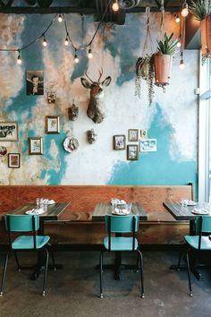 Ideas Bridal Shop Interior Design Home Restaurant Interior Design, Shop Interior Design, Bridal Shop Interior, Café Design, Design Ideas, Blue Cafe, Deco Restaurant, Pot Pourri, Café Bar