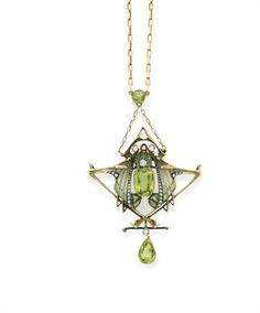Necklace Lucien Gautrait, 1900 Christies