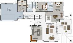 Brookside 3 bedroom house plan Landmark Homes builders NZ