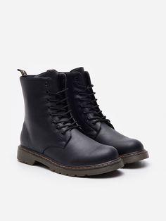 Botki ze sznurowaniem, HOUSE, YA007-99X I Love House, Lace Up Ankle Boots, Dr. Martens, Combat Boots, Lady, Shoes, Fashion, Moda, Zapatos