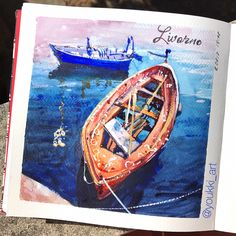 Yesterday in the evening we went to Livorno. I was impressed by its port and those ships and boats. All kind of vessels: chic, old, big, little.... I decided to experiment with colors for water. And one more time made the same conclusion: indigo kills a color of water. ✨//✨ Вчера прокатились до Ливорно. Меня поразил местный порт и все то многообразие кораблей и лодок, что предстало перед глазами: огромные паромы, безразмерные сухогрузы, шикарные яхты, буксиры, рыболовецкие судёнышки и вот…