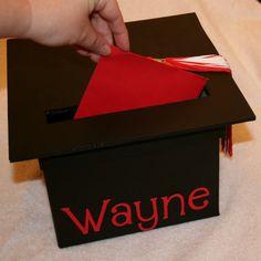 Graduation Mortar Board Card Box by amyslovebugdesigns on Etsy, $20.00