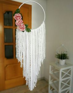Items similar to Bohemian Pure White Dreamcatcher / Bohemian Pure White Dreamcatcher / White Dreamcatcher / Large Dreamcatcher / Boho Dreamcatcher on Etsy - Dreamcatcher Bohemian Pure White / Bohemian Pure White Dream Catcher Decor, Lace Dream Catchers, Dream Catcher White, Dream Catcher Boho, Diy Crafts For Home Decor, Diy Room Decor, Baby Shower Decorations For Boys, Diy Projects, White Dreamcatcher