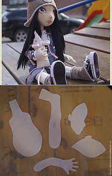 Создание текстильной куклы Лорочки. Часть 1 - Ярмарка Мастеров - ручная работа, handmade