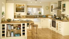 cream country kitchen ideas - Google Search
