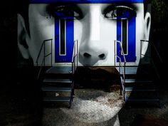 'The white face with the two doors' von Gabi Hampe bei artflakes.com als Poster oder Kunstdruck $23.56