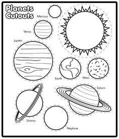 Solar System Coloring Pages // Páginas para colorear sobre el sistema solar