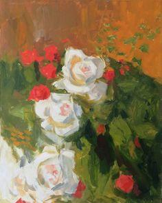 Original Floral Painting by Dumitru Bostan Junior Oil On Canvas, Saatchi Art, Artworks, Original Paintings, Roses, Artist, Pink, Rose, Artists