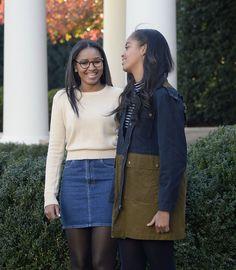 Sasha and Malia Obama