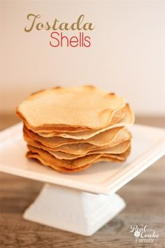 Save money and eat more natural. Learn how to make tostada shells from corn tortillas in just a few minutes. It is a really easy recipe.