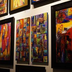 """Bright art display at the gelato shop"""