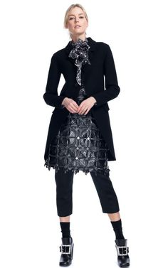 Marc Jacobs. love this look minus the cropped pants, I'd go with black tights.