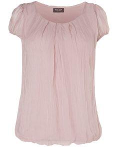 Nina Silk Chiffon Cap Sleeve Blouse