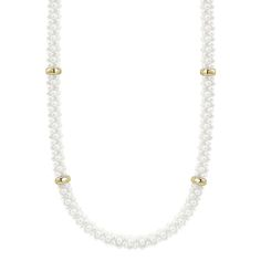 LAGOS | White Caviar and 18k Gold Beaded Necklace