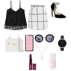 Hotlinebling by brendasofia13 on Polyvore featuring polyvore, fashion, style, Abercrombie & Fitch, Versace, Olivia Burton, White House Black Market, Miu Miu and Christian Dior