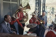 Disney's greatest Dixieland band, The Firehouse Five Plus Two jams in New Orleans Square. They played and recorded from 1949 to 1972 while never giving up their day jobs as animators and artists with the Walt Disney Studios.