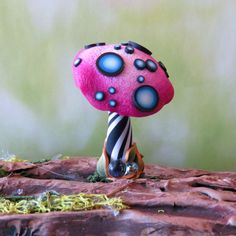 Toadstool for your House Plant or Fairy Garden by Claybykim