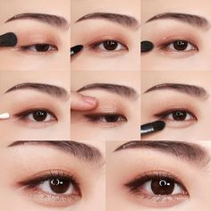 Ideas Korean Makeup Tips Eyeliner Asian Makeup Looks, Korean Makeup Look, Korean Makeup Tips, Asian Eye Makeup, Korean Makeup Tutorials, Simple Eye Makeup, Smokey Eye Makeup, Makeup Eyeshadow, Ulzzang Makeup Tutorial