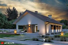 Projekt domu parterowego SFINKS VIII - wizualizacja 3 Modern Bungalow Exterior, Bungalow House Design, Exterior Design, Interior And Exterior, I Love House, My House Plans, Natural Home Decor, Facade House, Home Fashion