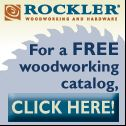 free offer woodworking resource from Rockler Hardware - free woodworking catalogs,products,hardware,free catalogs,free trade magazines,woodworkers,magazine,tools,supplies,hinges,lumber,kits,cabinets,kitchens
