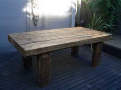 Richard Well's Rustic Chic table with railway sleepers
