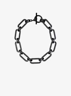 7e5c2dae6b639 Michael Kors Black-Tone Chain-Link Necklace Michael Kors Black