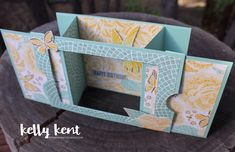 Fancy Fold | Theatre Card – kelly kent Fun Fold Cards, Pop Up Cards, Folded Cards, Cool Cards, 3d Cards, Spellbinders Cards, Stampin Up Cards, Beautiful Birthday Cards, Card Making Templates