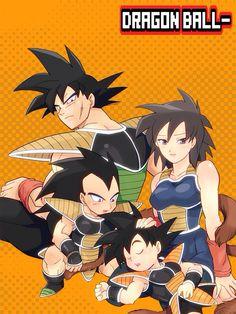 Goku's family.