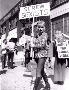 """""""Screw Sexists"""" - This movie still features Stella Stevens from the movie """"Stand Up and Be Counted,"""" 1972  Photo credit: Columbia Pictures Industries"""