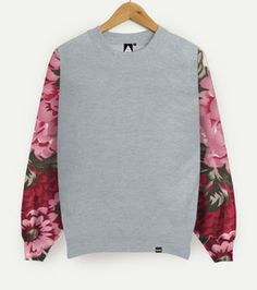 Limited edition. One off uni-sex sweater. Baggy Fit.Floral Print On front and back of sleeves.Cold Wash Only.