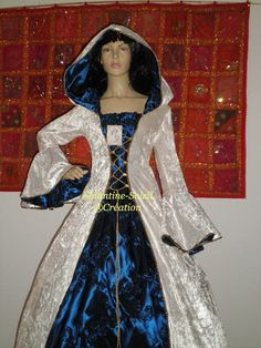 Medieval Celtic magical medieval gothic dress by EGLANTINEFEERIE, €250.00