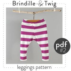 Baby leggings pattern, pdf instant download, sizes 0-3M to 2-3T photo tutorial -Pattern 2 on Etsy, $7.50