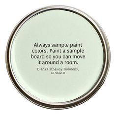 Sample Colour:  Use Paint Swatches Like a Pro - Learn How Here! - bhg.com