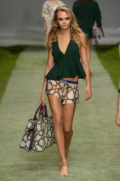 """The endless freedom of summer inspired the design team at Topshop HQ for SS14! From sunrise to sunset, on a beach or on a roof, this was a collection made with a """"Heat Rave"""" in mind. #LFW #Topshop #Unique #SS14"""